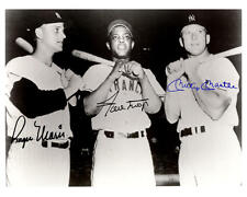 1960S MICKEY MANTLE ROGER MARIS MAYS AUTOGRAPHED 8X10 PHOTO REPRINT