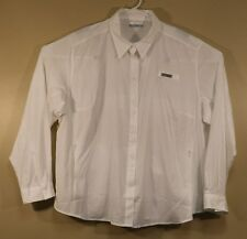 Mens Columbia PFG 3XL Long Sleeve Shirt White XXXL