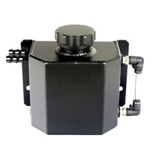 Universal 1000ML Alloy Aluminium Engine Oil Catch Can Breather Tank Bottle Black