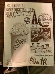 1975 NEW YORK YANKEES OLD-TIMERS DAY PROGRAM - MANTLE / DIMAGGIO / BERRA