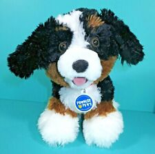 "Build A Bear Promise Pets Puppy Dog White Brown Black 10"" Plush Stuffed Animal"