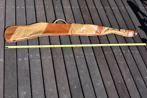 """Hunting Rifle Carrying Case, Leather Like, 7"""" opening. 47"""" Long. Two tone, Used"""