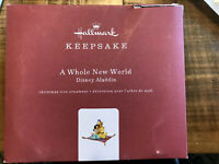 Worn Box 2019 Hallmark Keepsake Disney Aladdin A Whole New World Ornament