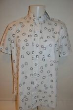 PAUL SMITH Jeans Man's Casual LEAF DESIGN Shirt NEW Size Large Retail $195