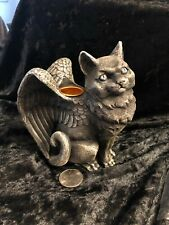 Angel Wings Cat Candleholder Altar Home Wiccan Pagan Metaphysical 12738 01