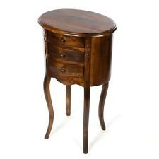 Teak 3 Drawer Side Table/Lamp Table/Hand Crafted/Dark Wood/72x42x31