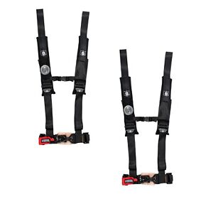 Pro Armor A114230 Black 4-Point Harness 3 Straps 2 Pack