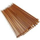 36Pcs/ Set 18size Carbonized Smooth Bamboo Single Pointed Knitting Needles Tool