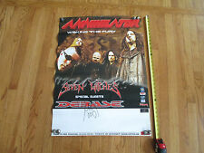 Annihlator and Seven Witches - 23 X 32 - Concert Poster - Signed By Jack Frost