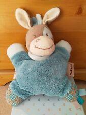 Nattou Blue Donkey Comforter. Grey Horse