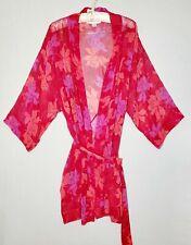 Victoria Secret Women Robe Chiffon Size 0/S  Red Floral Intimate Wear