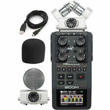 Zoom H6 Handy 6-Track Digital Recorder Portable Handheld X/Y and Side Mic