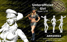 WOO Free shipping 1/35 Resin Figure Model Kit UNTEROFFIZIER GIRL ARM35903
