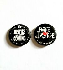VINTAGE 1993 POETIC JUSTICE MOVIE PROMO PIN SET - JANET JACKSON TUPAC SHAKUR