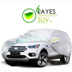 Full Car Cover Waterproof Outdoor YL All Weather Protection Breathable SUV 191''