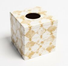 Fleur de lyes Tissue Box Cover wooden decoupaged by hand in UK