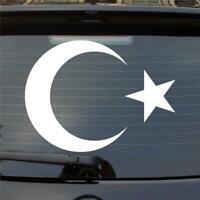 Auto Aufkleber ISLAM Türkei Turkey türkiye Flag Erdogan Sticker Halbmond Sichel