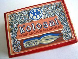 """Unopened  dip pen nibs box """"KOLOSAL"""" N°1516"""