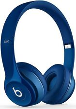 Apple Beats Solo 2 Blue Wired Headphones with Microphone - Grade A Refurbished