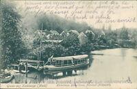 Ansichtskarte Kalkberge Hinterberge Bülow-Kanal Motorboot-Anlegestelle (Nr.897)