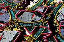Diamond Dogs Metal Gear Solid Ziggy Stardust Retro Iron on Patch
