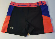 Women's Under Armour Compression Shorts Black Pink And Blue Size Small