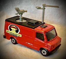 Matchbox 1989 - TV News Truck - Intergalactic Research - Red Diecast