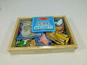 Melissa & Doug 20 Wooden Animal Magnets Set Durable Educational Developmental