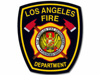 "4"" LAFD LOS ANGELES FIRE DEPARTMENT HELMET BUMPER STICKER DECAL USA MADE"