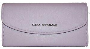 DANA BUCHMAN Lilac Flap Trifold Clutch Wallet NWOT