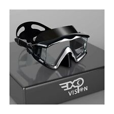 EXP VISION Adult Pano 3 Panoramic View Scuba Diving Mask, Tempered Glass Lens...