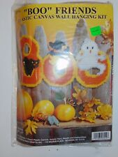 Vintage Plastic Canvas Wall Hanging Kit ''BOO'' Friends