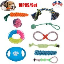 10Pcs/Set Dog Rope Toys Chew Toys for Puppy Small Medium Large Dog Durable Us