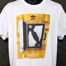 Adidas Originals Mens T Shirt Retro Basketball Court Shoes Case 86 Size XL