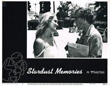 STARDUST MEMORIES WOODY ALLEN MARIE CHRISTINE BARRAULT ORIGINAL LOBBY CARD