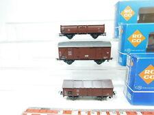 bf296-0,5 # 3x Roco H0 / DC Vagón de mercancía DB : 4302 +4310 +4313 ,MUY BUEN +