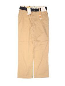 Gymboree Khaki Boys Pants Tan Size 8 with Blue Belt New with Tags