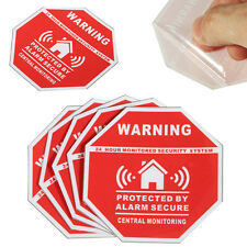5pcs Home Alarm Security Burglar Decals Warning Signs Window Door Stickers