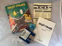 Tass Times in Tonetown Atari ST Game w/ 2 Disks, Manual, Pin, Newspaper, and Box
