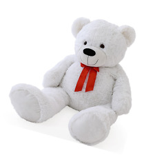 New White Teddy Bears Teddy Bear & bow Stuffed Animals Soft Plush Toys Kids 40cm