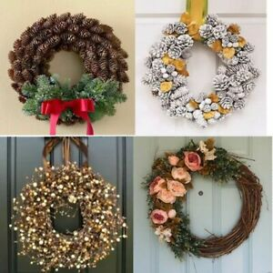 Round Garland Wreath For Christmas Tree Decorations Home Gift Ideas Wall Designs