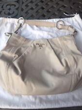 PRADA Gray Leather Hobo Bag BN1689