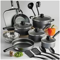 NEW 18pc Cooking Set Pots Pans Non Stick Cookware Griddle Saute Sauce Kitchen