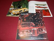 1970 PONTIAC 24 p. BROCHURE 70 GRAND PRIX GTO BONNEVILLE LEMANS CATALINA CATALOG