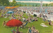 Cincinnati,Ohio,Coney Island Amusement Park,Swimming Pool,Linen,Used,1952