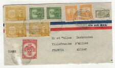 Colombie 9 timbres sur devant de lettre 1949 /BCag12