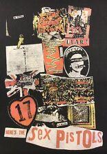 Uniqlo Rock Squad Here's The Sex Pistols Black Tee T Shirt Women's L NWT New