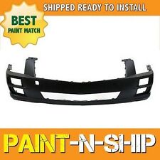 NEW Fits: 2010 2011 Cadillac STS w/o HL Wash Front Bumper Painted GM1000874