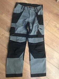 BNWOT Timberland Pro Men's Work Trousers Size 34T Grey/Black TBOA4QTD RRP £100