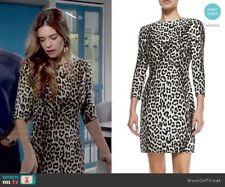 $595 2 xs s Nwt Rag & Bone Short Silk Leopard Print Dress Lined animal